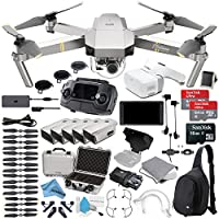Platinum DJI Mavic Pro Quadcopter Drone + 5 Battery Bundle + DJI Crystal Sky 5.5 Screen