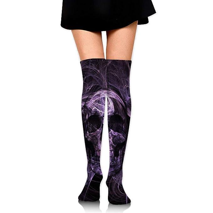 e91b68d942ef7 Amazon.com: COKKI 60cm Knee High Socks - Purple Skull -Thigh High Stockings  For Women/Girls: Clothing