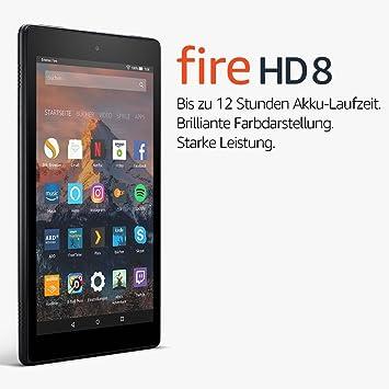 Fire Hd 8 Tablet Mit Alexa 20 3 Cm 8 Zoll Hd Display 16 Gb Schwarz Mit Spezialangeboten Vorherige Generation 7 Amazon Devices
