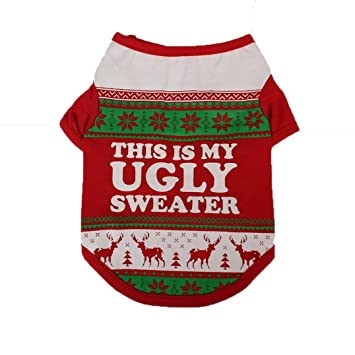 Amazon Com Hot Sale Clearance Todaies Christmas Dog Clothing