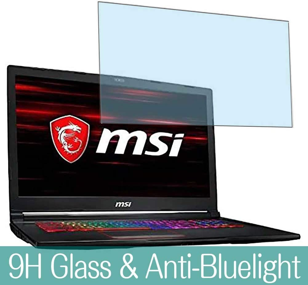 "Synvy Anti Blue Light Tempered Glass Screen Protector for MSI GE73-8RF-001JP 2018 17.3"" Visible Area 9H Protective Screen Film Protectors"