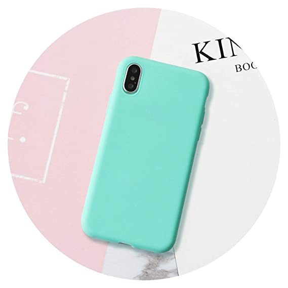 Amazon.com: Macaron Color Matte Silicone Case for Coque ...