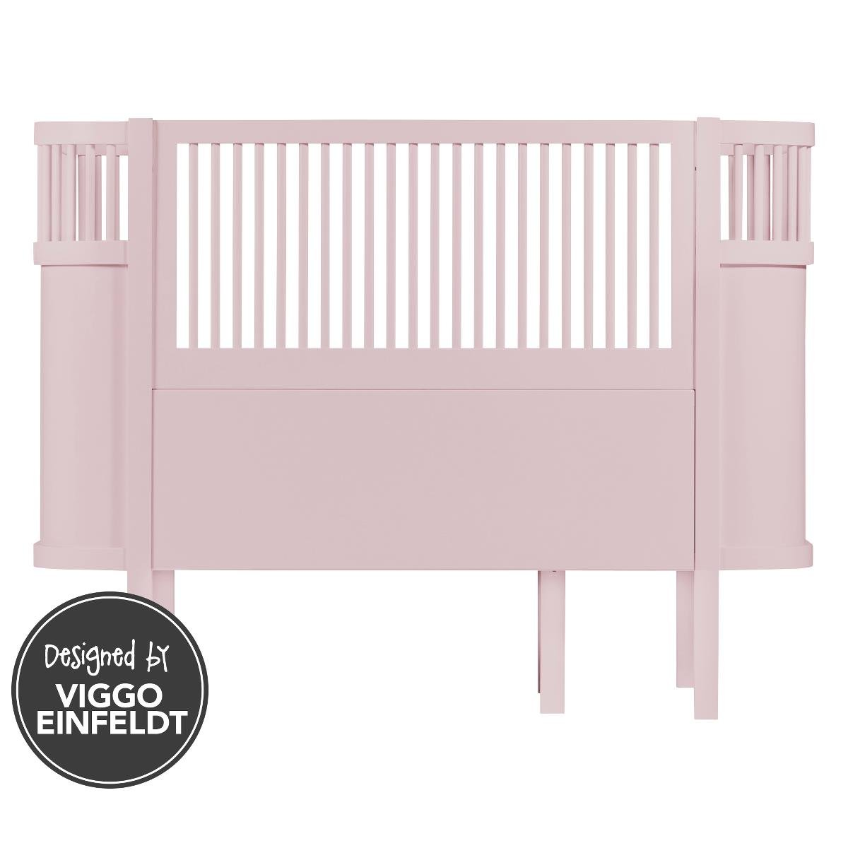 Das Sebra Bett - Baby & Juniorbett - das Bett, dass mit dem Kind wächst - altrosa
