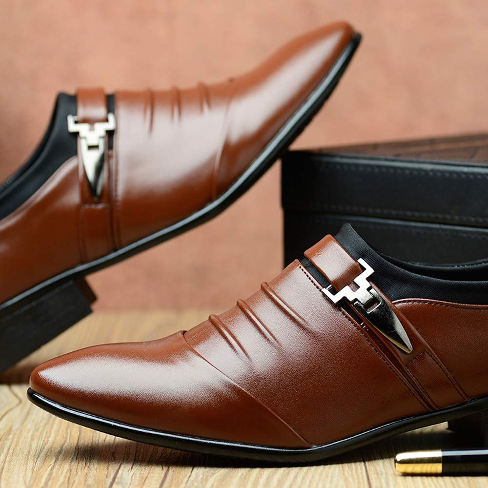 Mens New British Leather Shoes Fashion Pointed Toe Formal Business Wedding Dress Shoes Seaintheson Felt Applique Kits