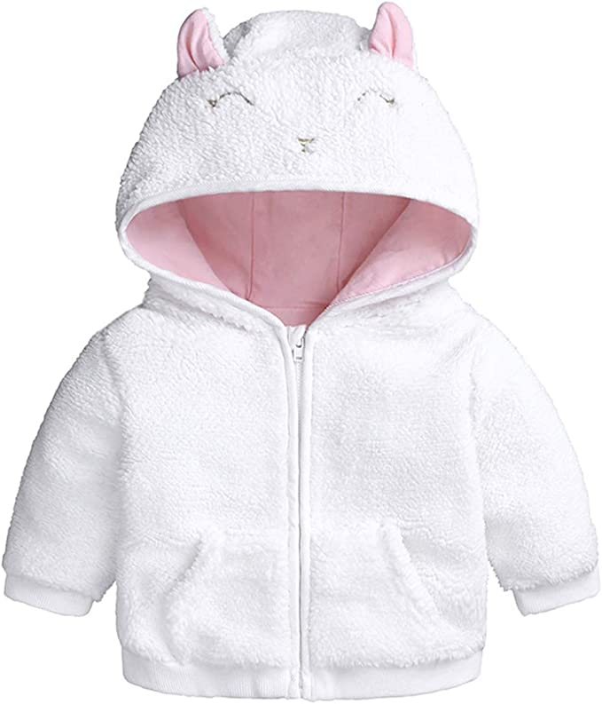 Koly/® Baby Boy Girl Newborn Hoodies Coat Thick Tops Children Carter Style Outerwear for 0-24 Months