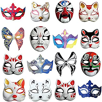 DIY Unpainted Masquerade Masks Ru S White Masks