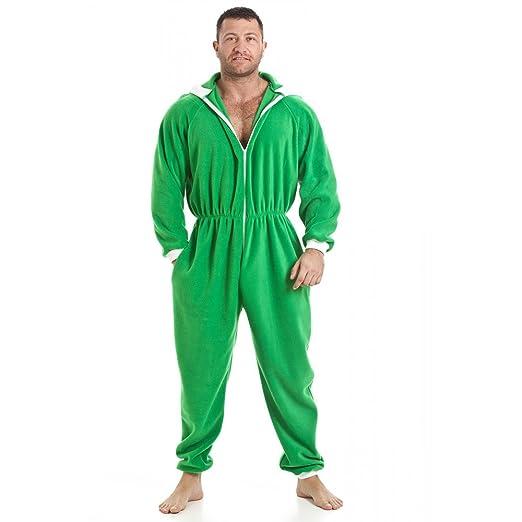 Camille - Pijama de una Pieza - para Hombre Verde XXXXX-Large: Amazon.es: Ropa y accesorios