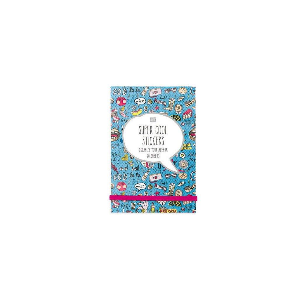 Carnet de 20 pages de stickers Paper Poetry 11x16.5 cm- Magical Summer Bleu x1