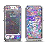 The Abstract Colorful Oil Paint Splatter Strokes Apple iPhone 5s LifeProof Nuud Case Skin Set (Skin Only)