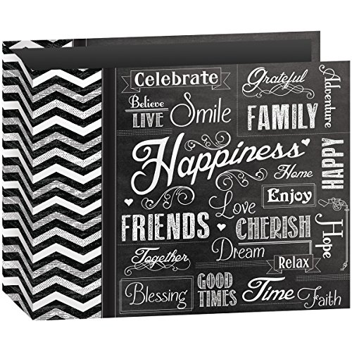 (Pioneer Photo Albums T-12CHLK/H 3-Ring Printed Chalkboard Design Binder Happiness Scrapbook, 12 by 12-Inch)
