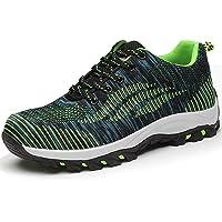 SUADEEX Mujer Hombre Zapatillas de Seguridad Deportivos con Puntera de Acero 200 Julios Zapatos de Trabajo Entrenador…