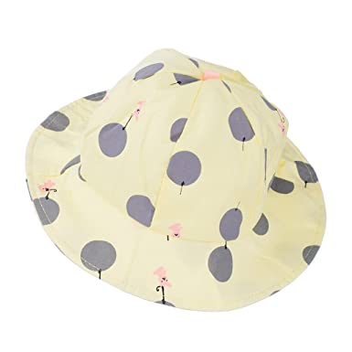 Phenovo Baby Unisex Polka Dots Bucket Hat (Yellow)  Amazon.in ... 187d07184485