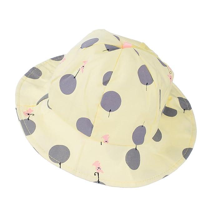 691ec12c22a Phenovo Baby Unisex Polka Dots Bucket Hat (Yellow)  Amazon.in  Clothing    Accessories