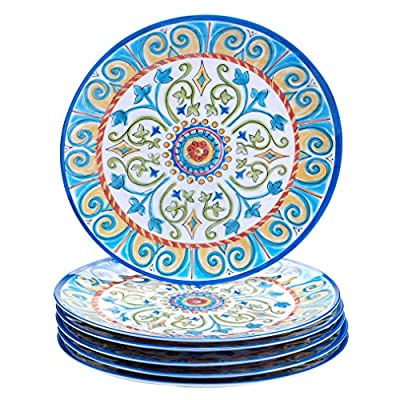 "Certified International Corp Tuscany Dinner Plate, 11"", Multicolored, Set of 6"