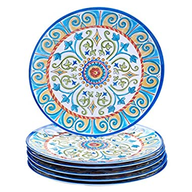 Certified International Corp Tuscany Dinner Plate, 11 , Multicolored, Set of 6