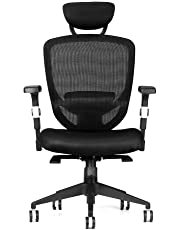 Moustache ® Swivel Office Executive Chair with Armrest, Black