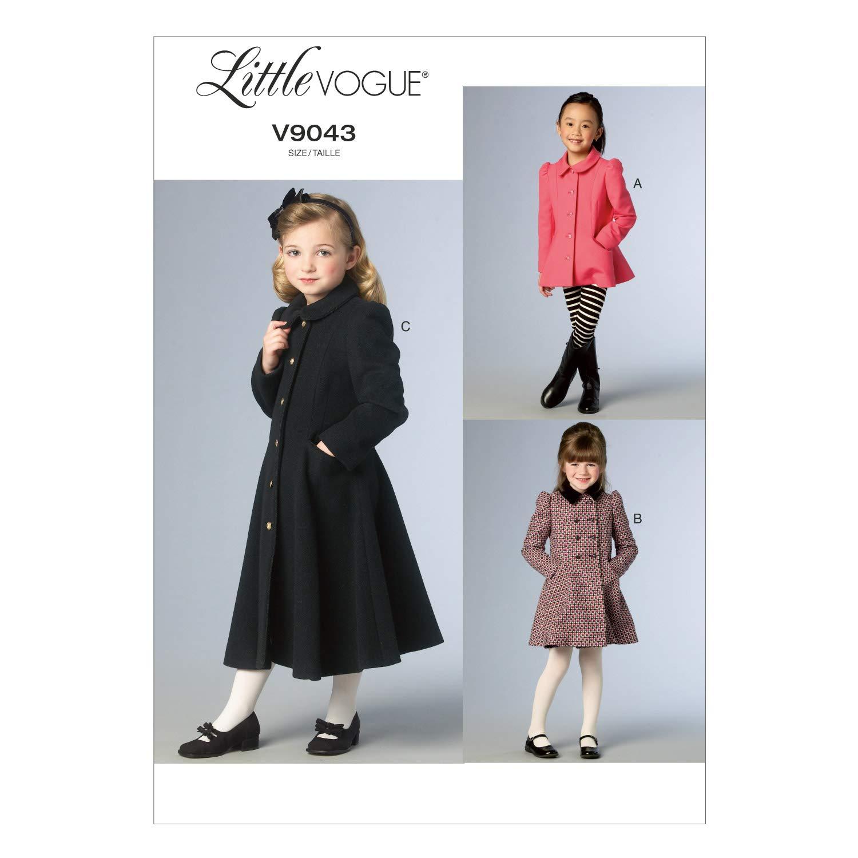 Il CCD 9043 Società McCall modello di dimensioni 2-3 - 4-5 per i bambini che coprono/ragazze cucire giacche e appendiabiti The McCall Pattern Company V9043CDD