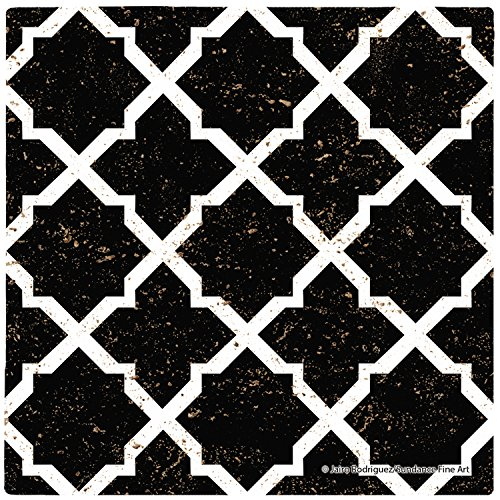 Thirstystone Travertine Stone Morrocan Tile Pattern Drink Coaster Set, , Multicolored