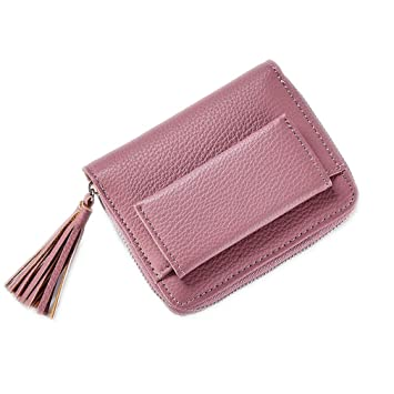 kaoling Carteras Femeninas de la Borla con la Cremallera Coin Pocket Card Holder Ladies Monederos Short Women Wallet Dk Pink: Amazon.es: Deportes y aire ...