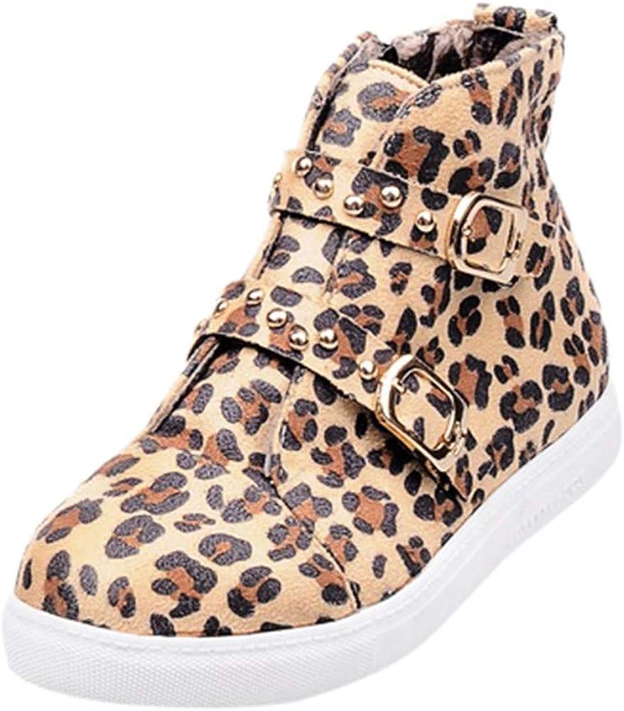 Luckycat Estampado De Leopardo Botas Clasicas Mujer Botines ...
