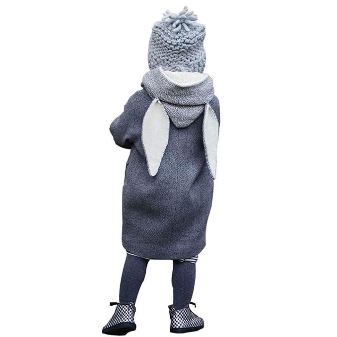 abrigo niña Bebé, AIMEE7 Bebé Infantil lindo conejo con capucha chaqueta chaqueta gruesa ropa caliente