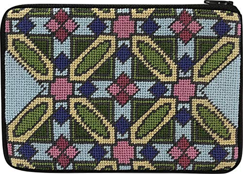 (Stitch & Zip Needlepoint Cosmetic Purse Kit- Frank Lloyd Wright Luxfer Prism)