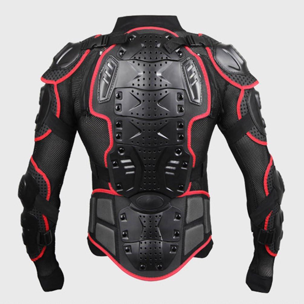 Dexinx Motorrad Radfahren Reiten Full Body Armor R/üstung Protector Professionelle Street Motocross Guard Shirt Jacke mit R/ückenschutz