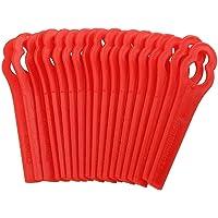 ZoneYan 100Pcs Cuchillas Cortador de Césped, Cuchilla de Repuesto para Cortacésped, Cuchillas de Plástico Hierba…