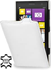 StilGut, UltraSlim, pochette exclusive de cuir véritable pour le Nokia Lumia 1020, blanc