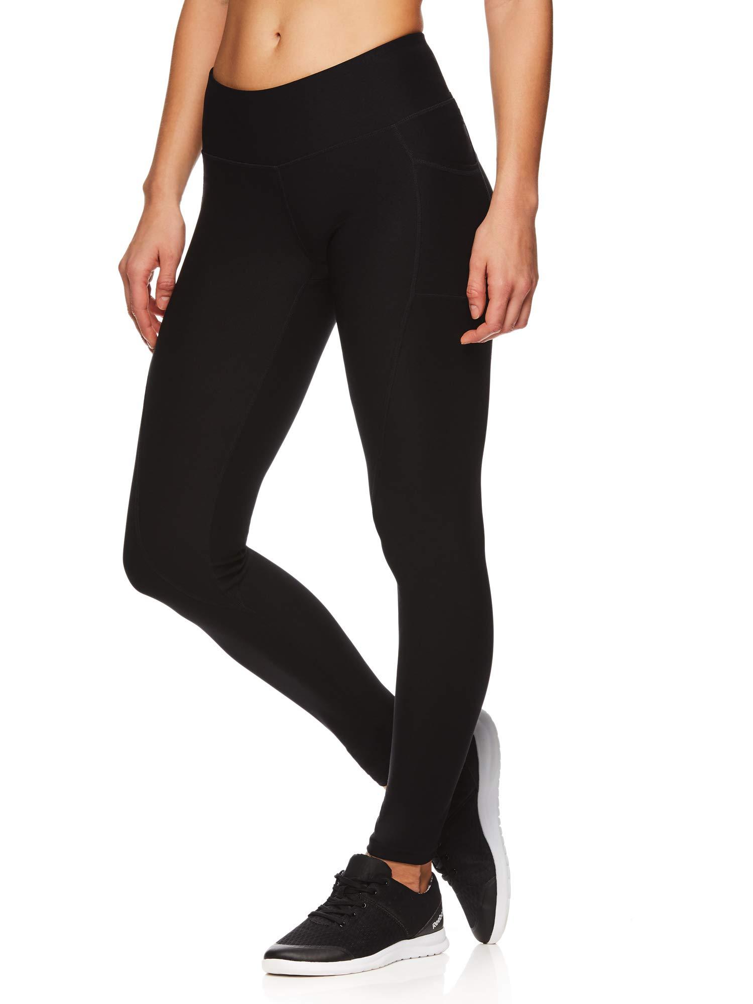 Reebok Women's Legging Full Length Performance Compression Pants - Black Dark, X-Small by Reebok