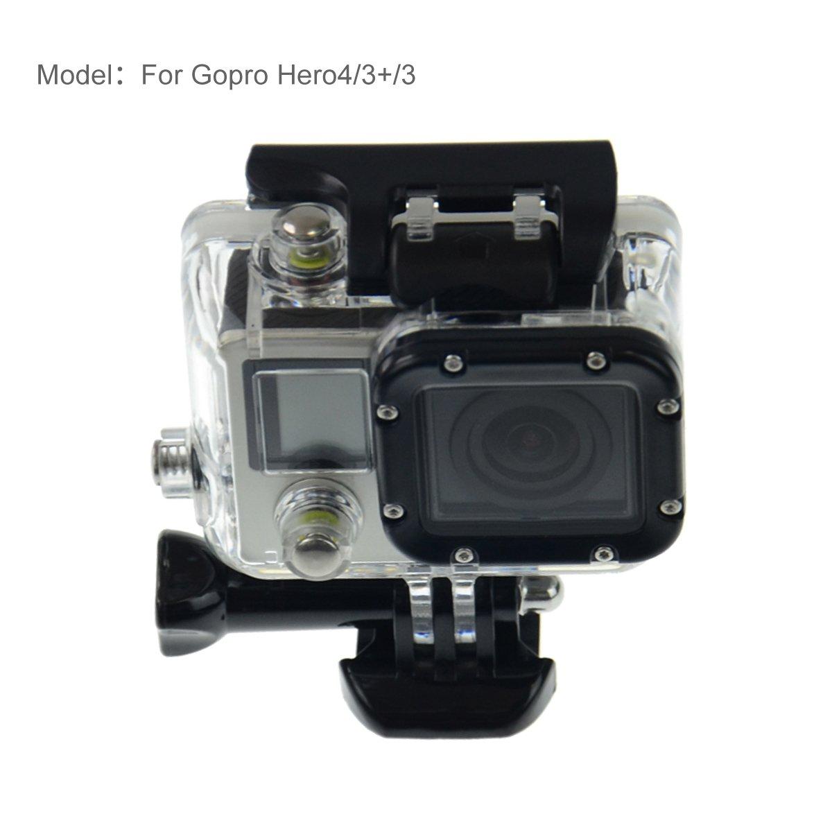 Mackertop GoPro防水ケース防水保護ハウジングケースGoPro hero4 hero3 hero3 +カメラのすべてと互換性   B01MZXGI8U