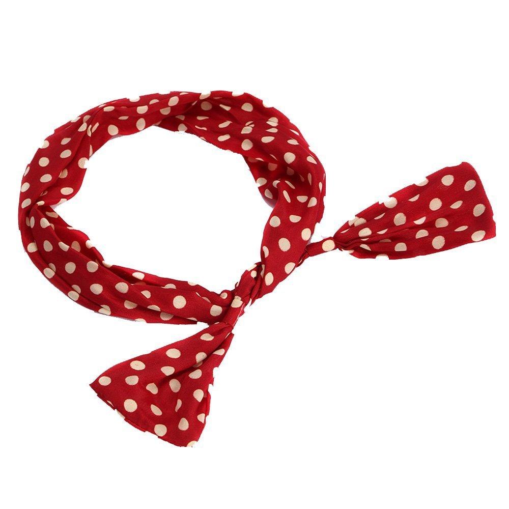 Beauty banda pelo negro rojo Polka Dots Rockabilly de alambre ...