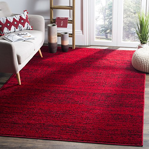 Safavieh Adirondack Collection ADR117F Red and Black Contemporary Area Rug (4' x 6')