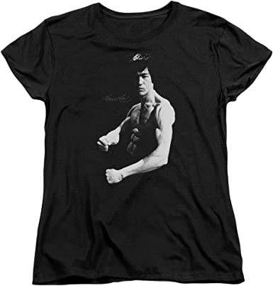 Bruce Lee Fighter Kung Fu Stance Top Art men/'s woman/'s available t shirt black