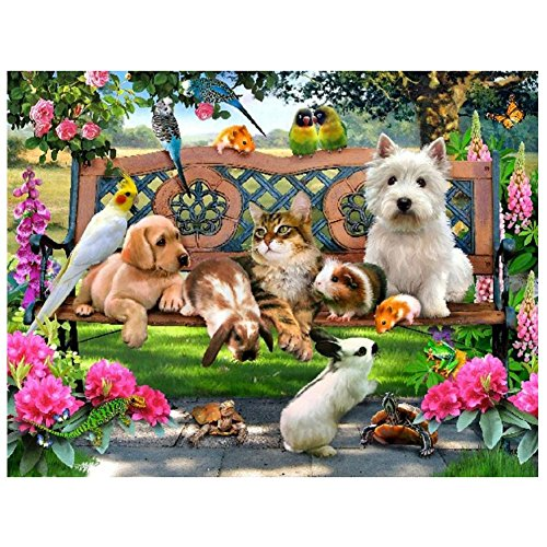 Toogoo 30 40cm DIY 5D Animal Diamond Painting Cat Dog Rabbit