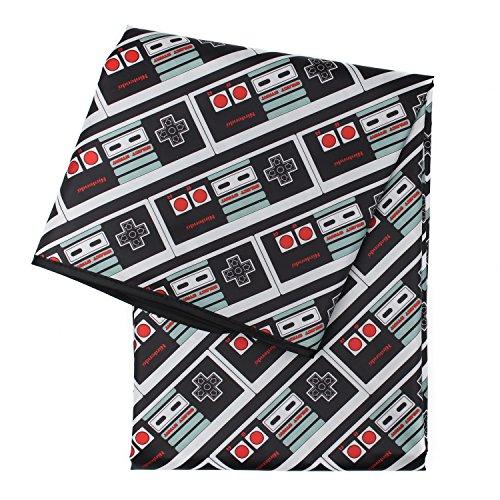 Bumkins Nintendo NES Controller Splat Mat, Waterproof, Washable for Floor or Table, Under Highchairs, Art, Crafts, Playtime