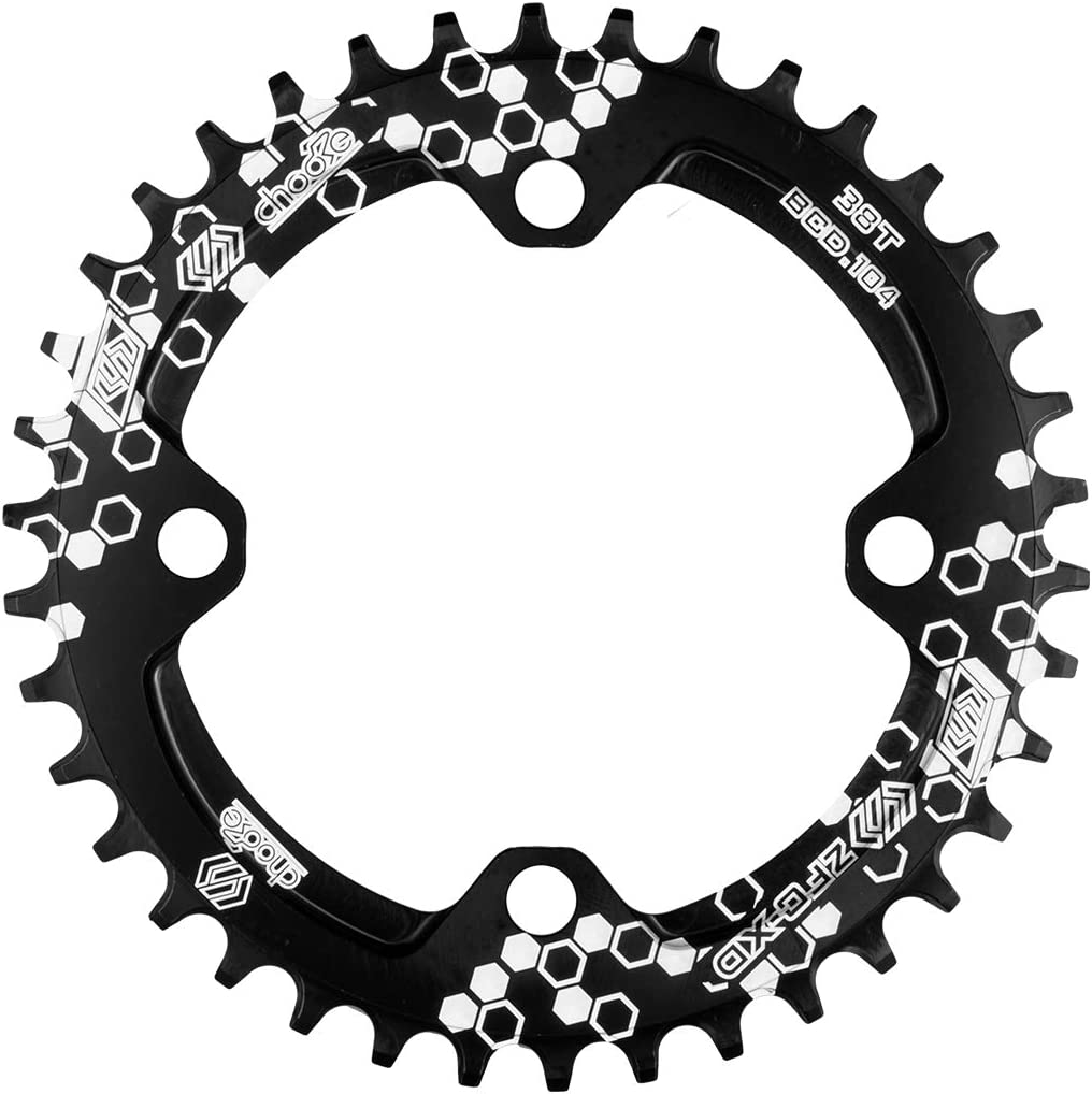 Rojo//Negro Aluminio Monoplato 30T//32T//34T//36T//38T MTB EASTERN POWER Plato Bicicleta Monta/ña Plato 30//32//34//36//38 Dientes BCD 104
