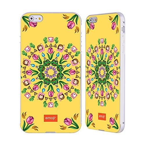 Officiel Emoji Mandala Copies Assorties Argent Étui Coque Aluminium Bumper Slider pour Apple iPhone 6 Plus / 6s Plus