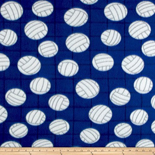lar Fleece Volleyball Royal Fabric by The Yard ()