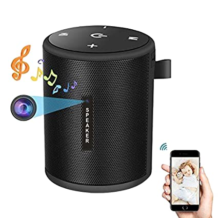Biback - Cámara Oculta con WiFi, Altavoces Bluetooth, Reproductor de música, HD 1080P