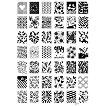Nail Stamping Plates Halloween Nail Art Stamp Template Ghost Bat Flowers Image Stamp Plate NO.11 by M-Egal