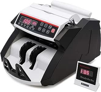 UFLIZOGH Contador de Billetes Totalizador Falsos Automático Maquina de Detector de Monedas múltiples UV MG con Sistem Pantalla LED para Tiendas y Bancos: Amazon.es: Oficina y papelería