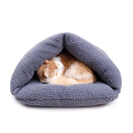 Wordmo - Saco de dormir para mascotas, cálido cojín de cachemira para perros y gatos