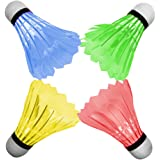 OuTera Shuttlecock Badminton Birdies Badminton Glow in the Dark Shuttlecocks Fun for Your Family[1 Year Warranty]