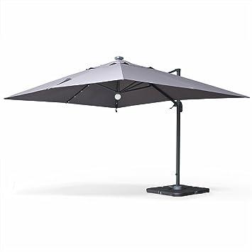 parasol rectangulaire gris anthracite