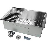 "30 inch Undermount Single Bowl 16 Gauge Stainless Steel Kitchen Sink 30"" x 18"" x 10"" - LIVINGbasics"