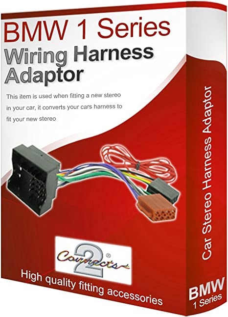 Radio stereo wiring harness adapter lead loom ISO converter compatible on dual head unit wiring, alpine head unit wiring, sony head unit wiring,