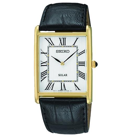 Seiko Reloj Analógico de Cuarzo para Hombre con Correa de Cuero - SUP880P1: Amazon.es: Relojes
