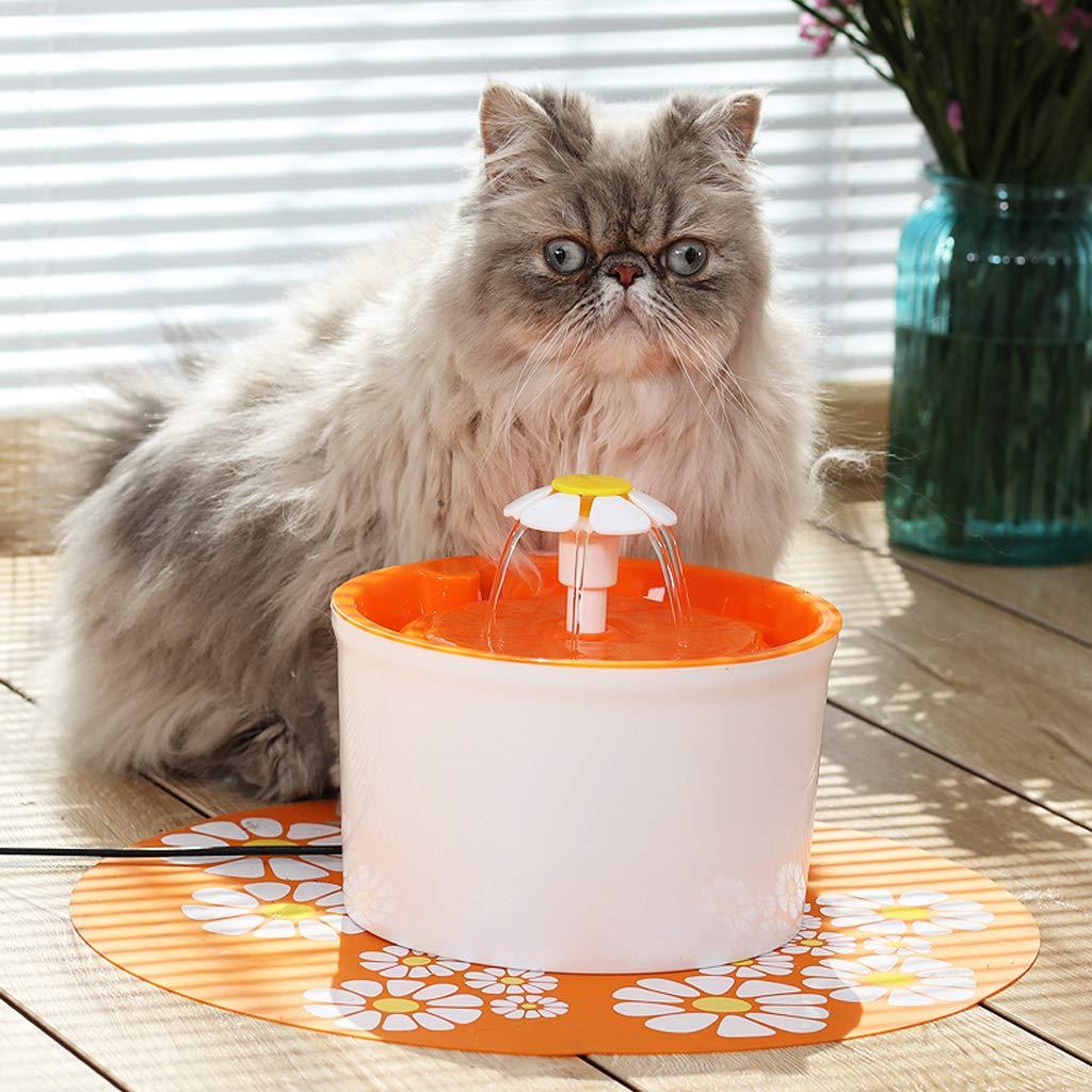 Ab Pet Hair Dryer Distributore d'Acqua fontanella per Gatti Cani Uccelli ed Altri Animali Domestici con Livelli di filtraggio uscite 1.6L-colore Arancione