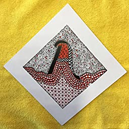''Alphabet Tile'' 6'' x 6'' on Cardstock - Please Specify Letter